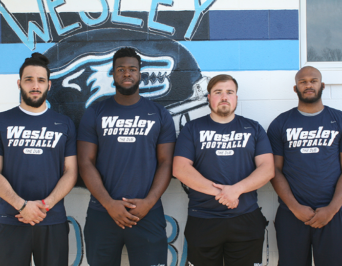 Wesley football wraps up spring practice with spring game