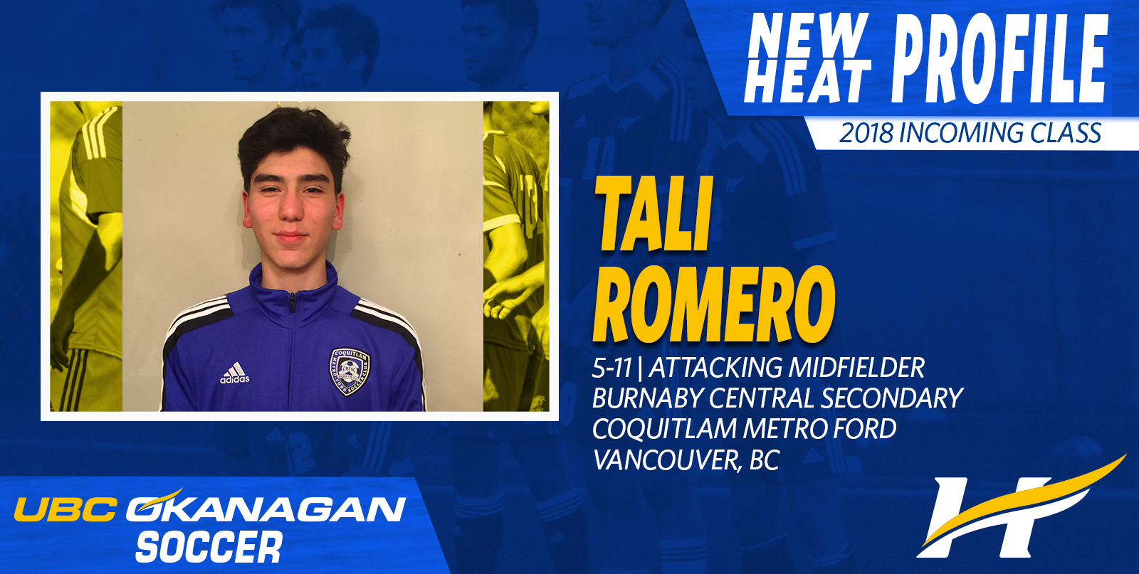 Romero to attack for UBC Okanagan this fall