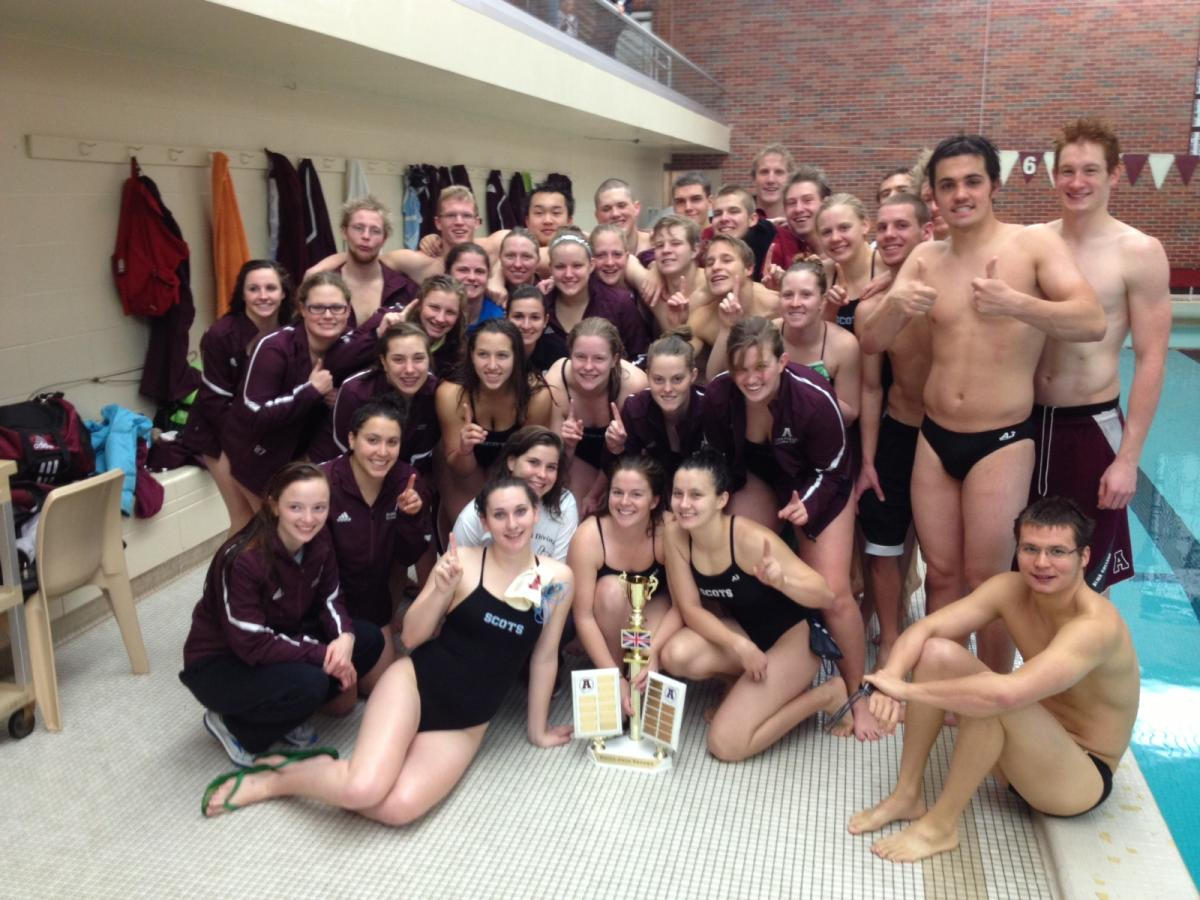 Alma Swimming and Diving hosted Albion College on Saturday with both men and women earning victories