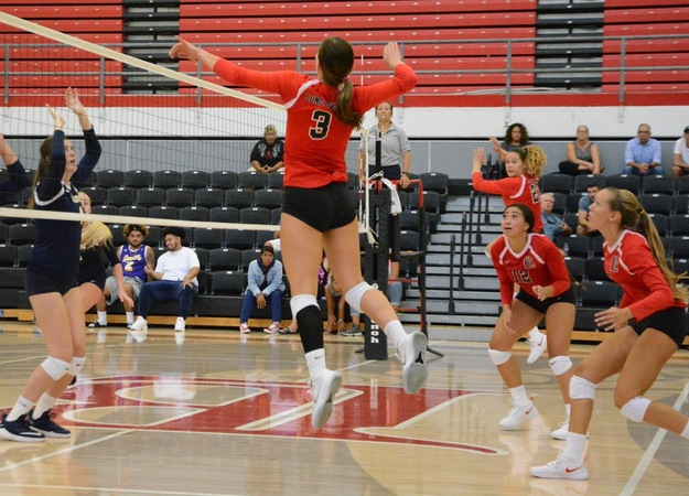 Sophomore Jessica Blakeman totaled 12 kills, three aces, and 15 digs for the quad tournament.