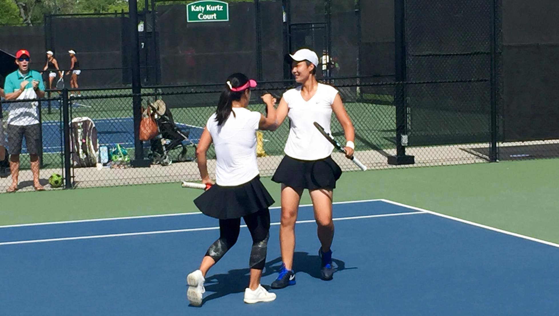 No. 1 doubles team Xin (Summer) Wen and Nannan (Dallas) Zhang remained undefeated with an 8-3 victory for the Seasiders.
