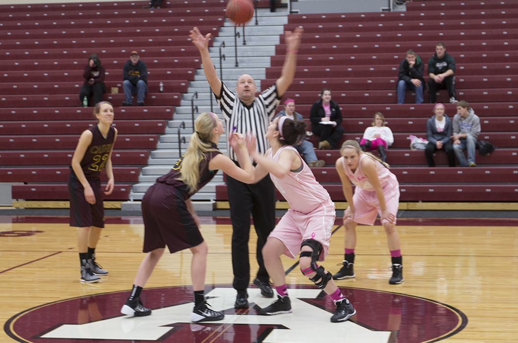 Alma WBB played at Saint Mary's on Saturday afternoon and lost 72-61