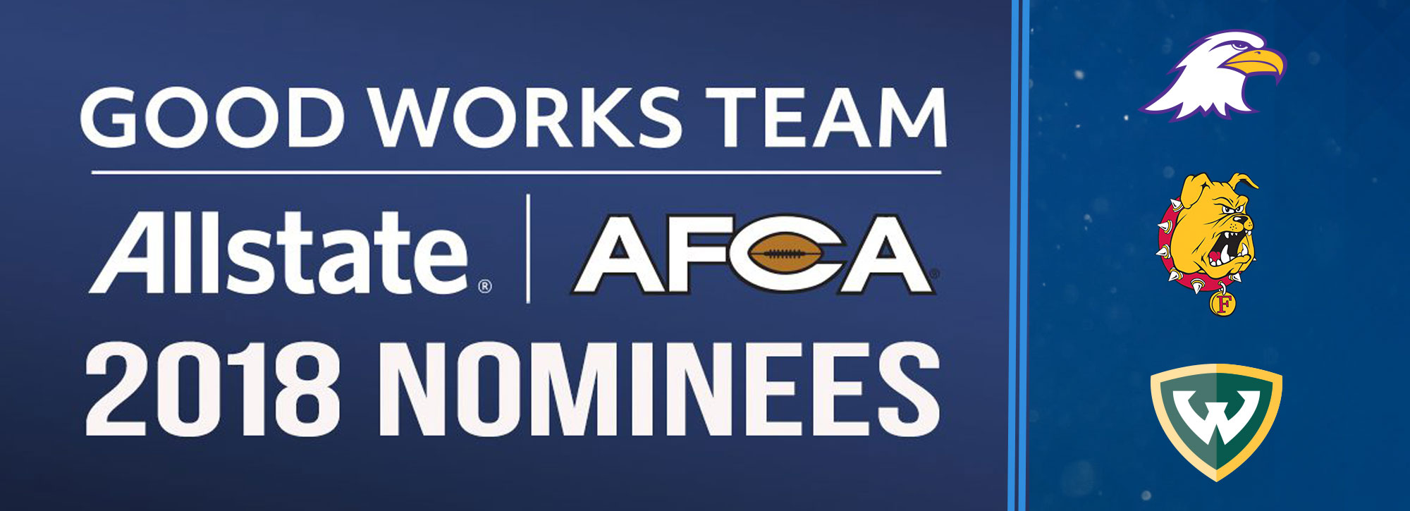 Three GLIAC Student-Athletes Garner Allstate AFCA Good Works Team Nominations