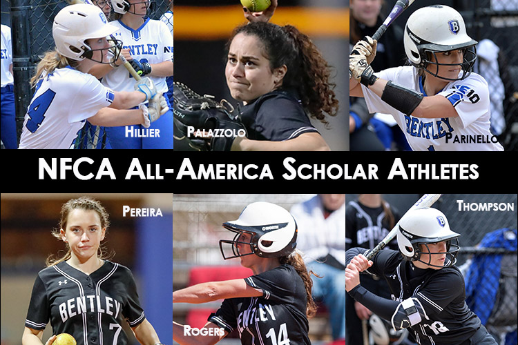Photos of the 6 Bentley Falcons to earn All-America Scholar-Athlete recognition from the NFCA