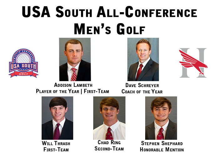 Lambeth and Schreyer lead All-Conference golf team