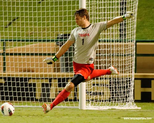Senior goalkeeper David Niepel recorded two saves in his fourth win of the season on Saturday night against Eckerd College.