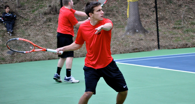 LC Men's Tennis Defeats Bluefield 7-2