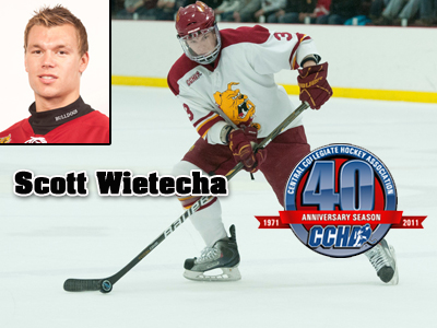 CCHA Bestows Weekly Award Upon Ferris State's Scott Wietecha