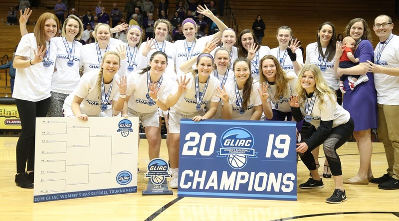A Grand Four-Peat – No. 6 AU Women Win GLIAC Tourney