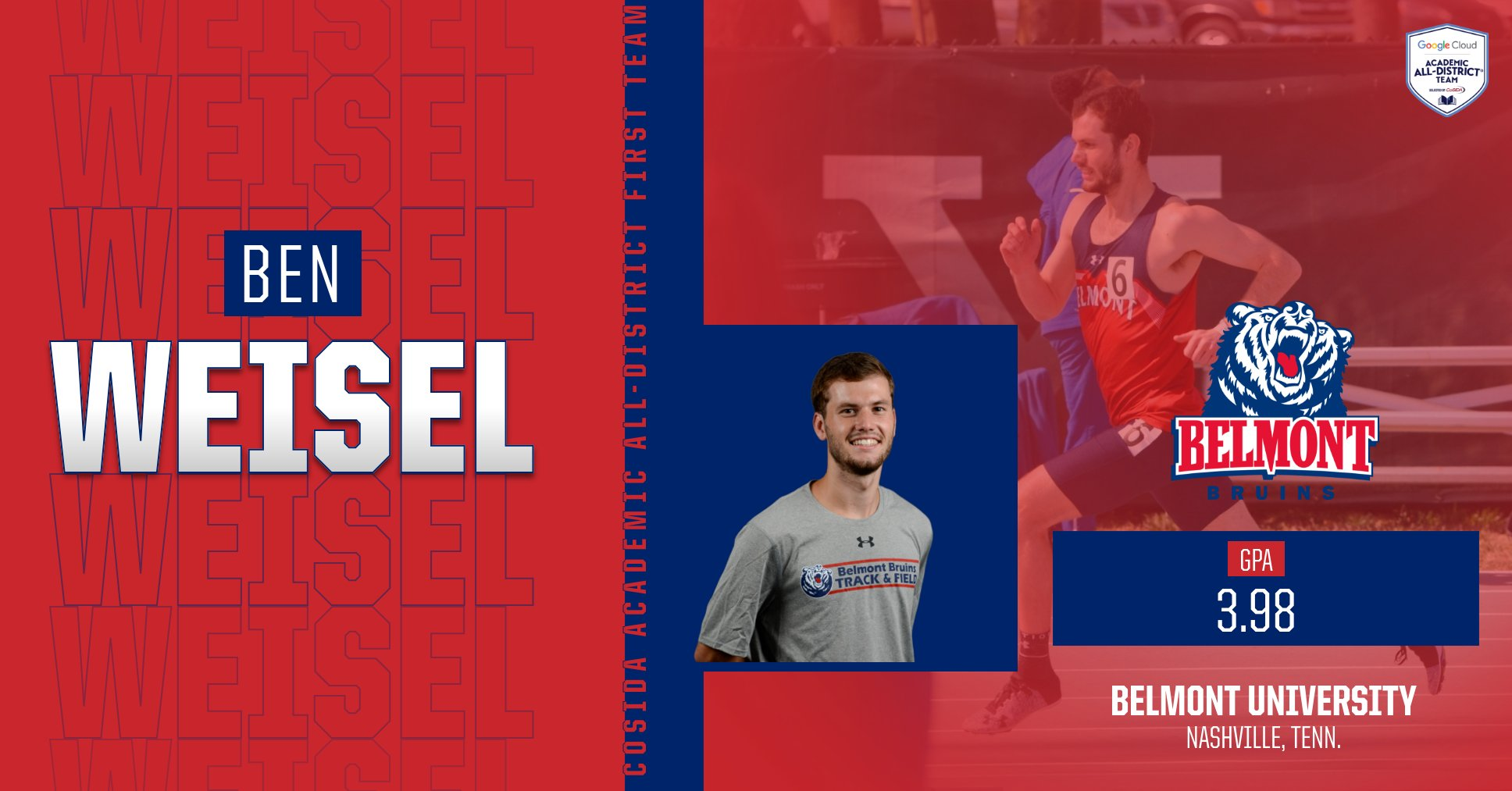 Weisel Named Google Cloud Academic All-District
