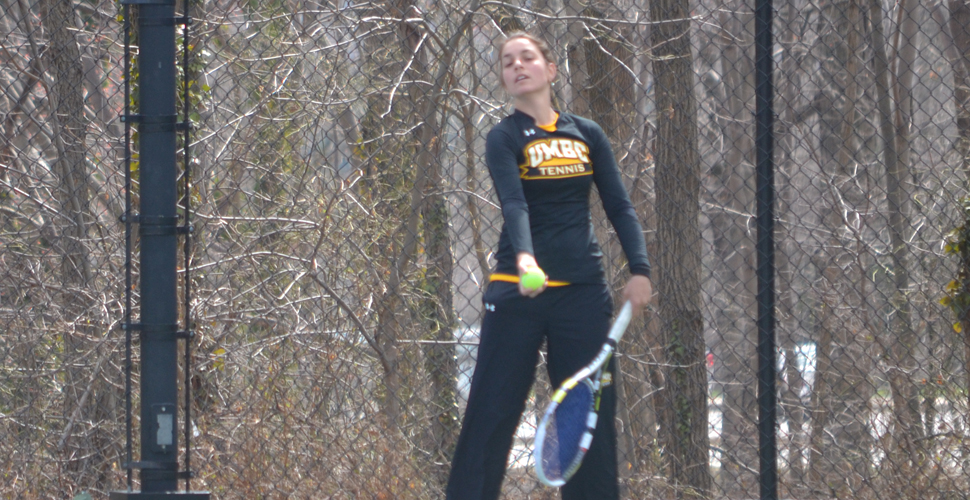 Berghaus Dominates in Singles, But Women's Tennis Edged, 4-3, by Georgetown