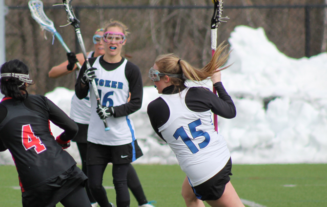 Mossey Nets Seven Goals As Women's Lacrosse Rolls Past AMC