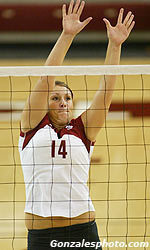 Volleyball Wins Eighth Straight with Victory over Portland