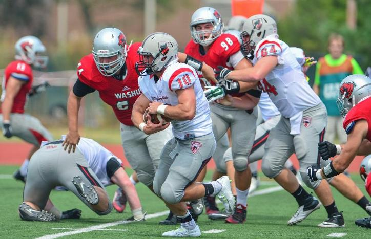 Benger Records 204 Yards Rushing in Setback at Washington U.