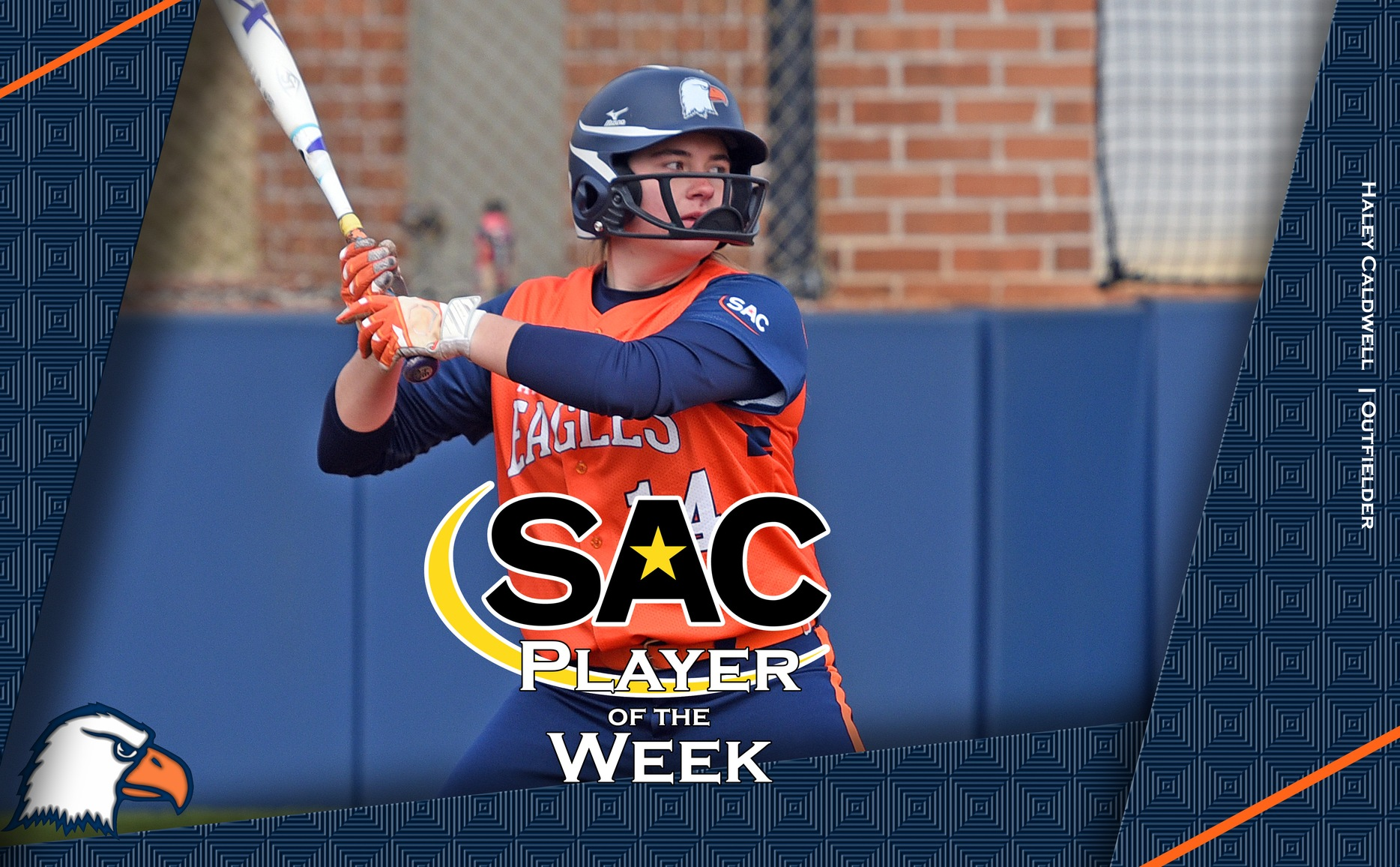 Caldwell nets AstroTurf SAC Player of the Week accolade