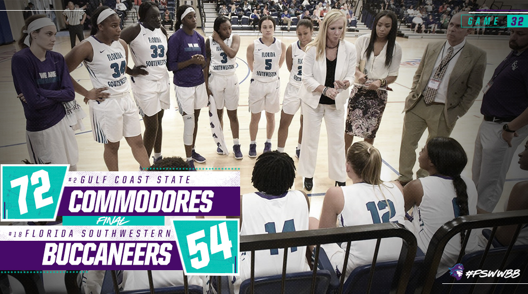 No. 18 #FSWWBB Falls To No. 2 Gulf Coast In State Tournament Semifinals