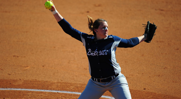 Bobcat Softball Surprises Bears, Runs Away with Opening Round Game 10-1