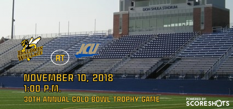 #21 Football Battles #8 John Carroll for Playoff Berth in 30th Gold Bowl Trophy Game