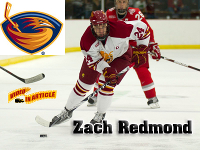 Zach Redmond Signs NHL Deal With The Atlanta Thrashers