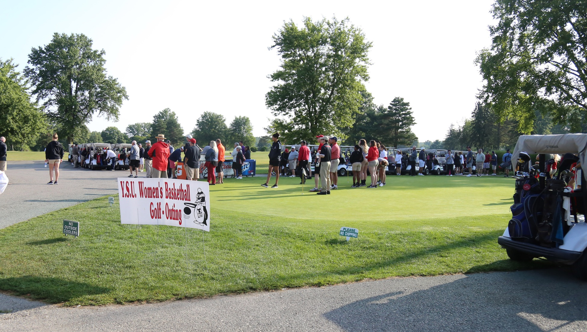 The YSU women's basketball golf outing is held annually at the end of August