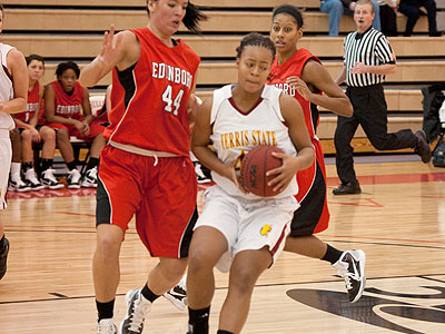 Senior Tiara Adams was named to the All-Classic Team at the Bowie State event