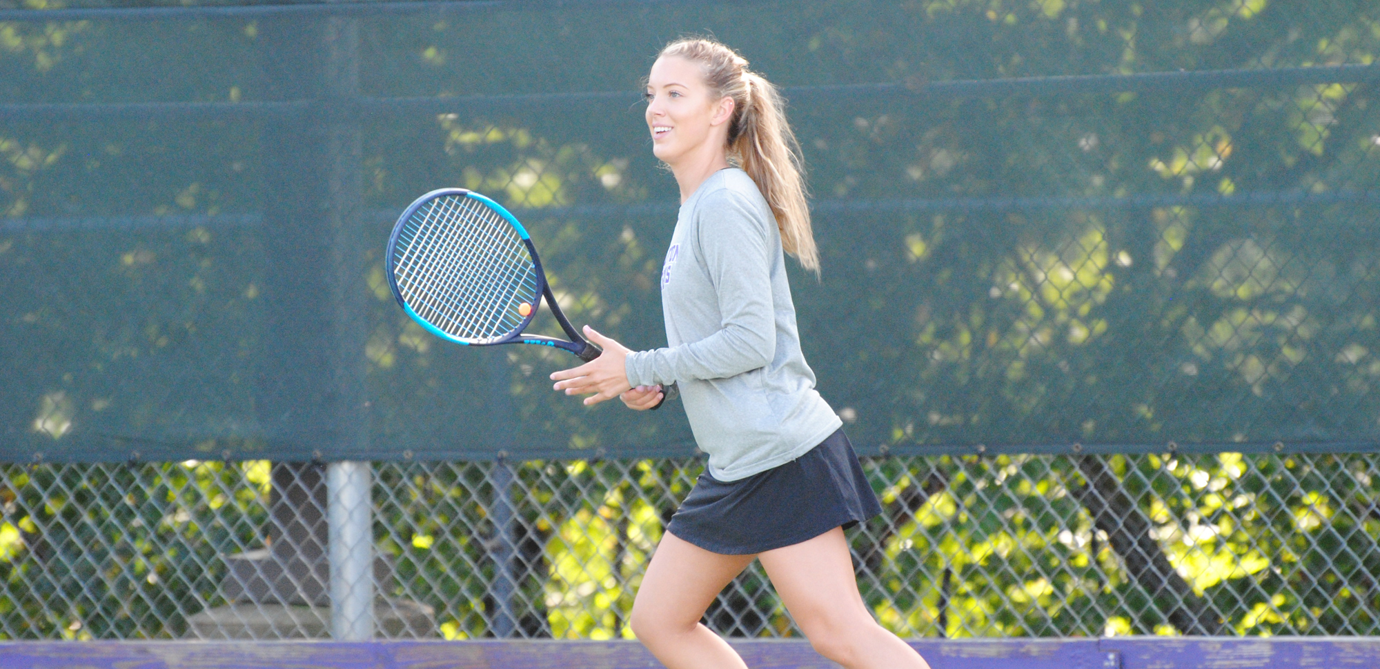 Sophomore Marissa Campo won at no. 4 singles for the Royals on Thursday against Dickinson.