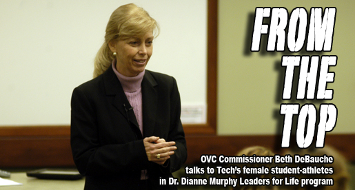 OVC Commissioner DeBauche speaker in Leaders for Life program at Tech