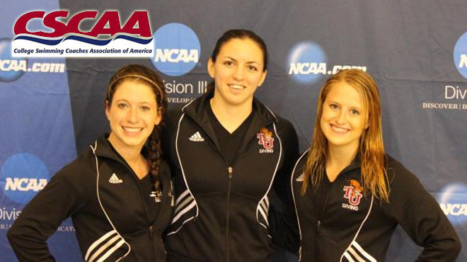 Trinity Trio Selected CSCAA Scholar All-Americans