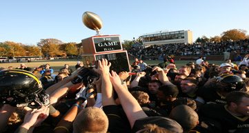 football team hosting trophy