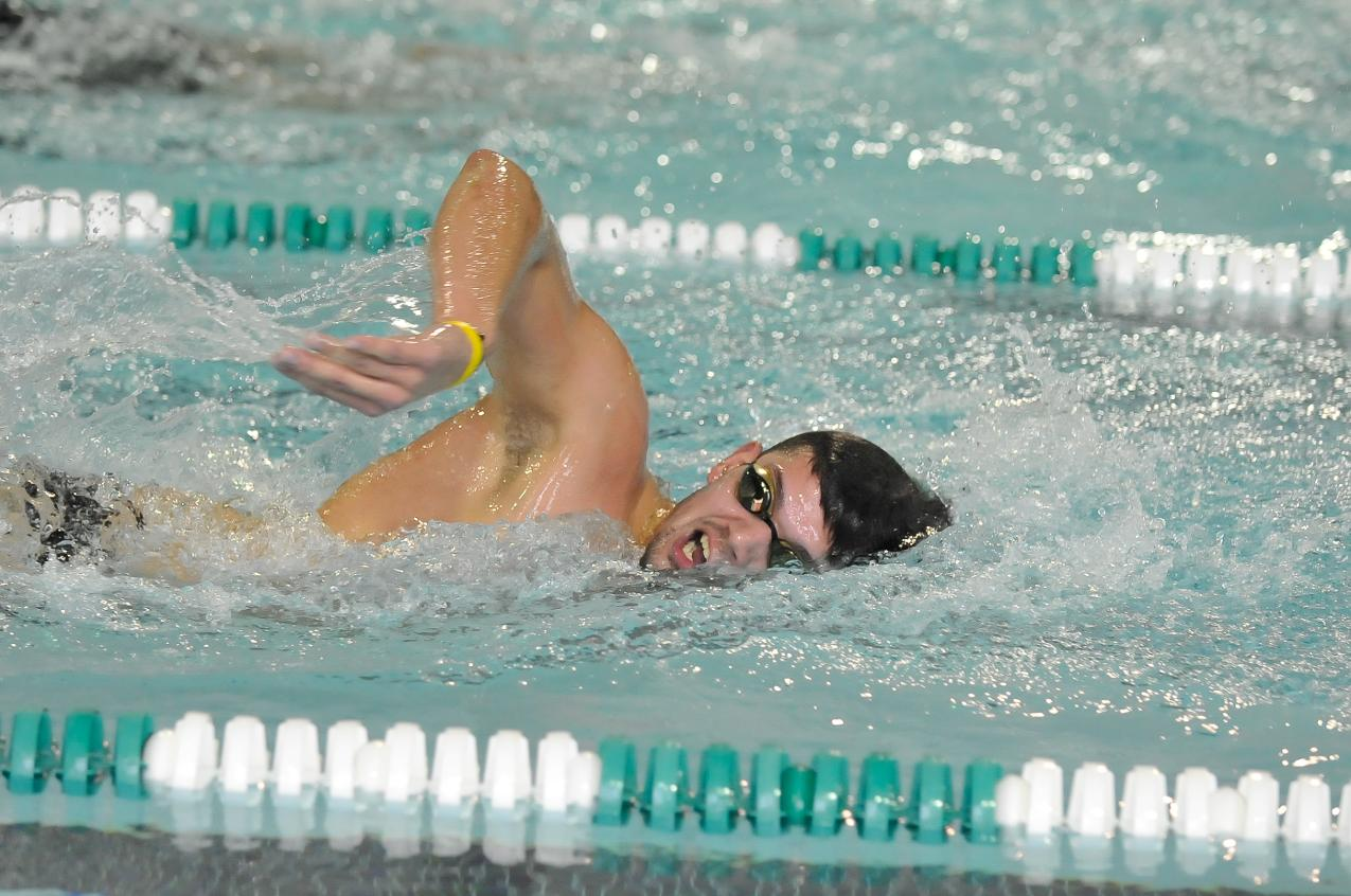 Men's Swimming Completes Day One Action of 2013-14 NEISDA Championships