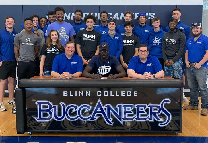 Blinn Men's Basketball Players Bonke Maring And Kylon Owens Sign With Four-Year Colleges