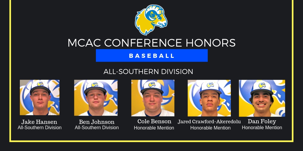 Baseball Places Five on MCAC All-Southern Division Team