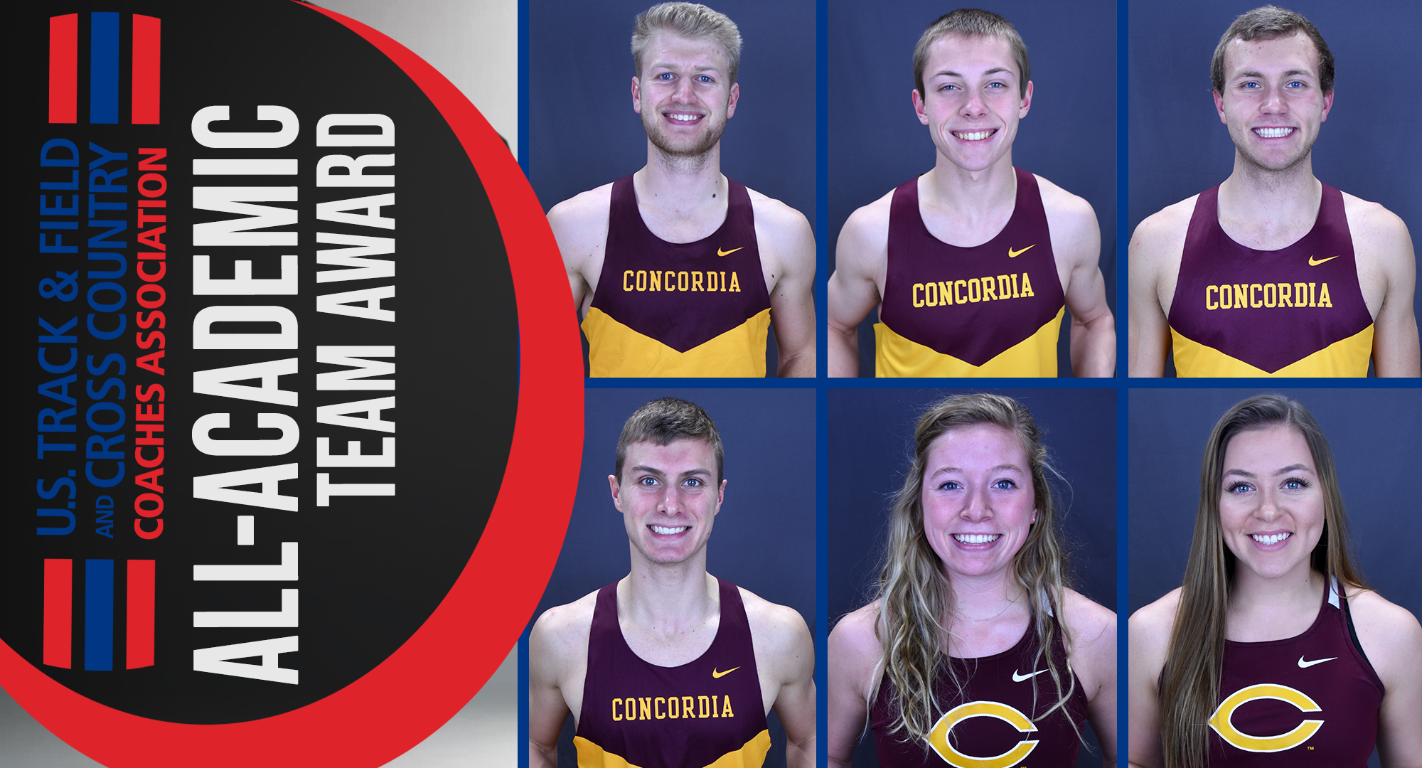 Matt Bye, Jesse Middendorf, Colin Schuller, Cal Wright, Josie Herrmann and Cayle Hovland all earned USTFCCCA Scholar All-Academic honors.