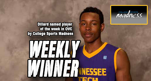 Dillard named player of the week by College Sports Madness