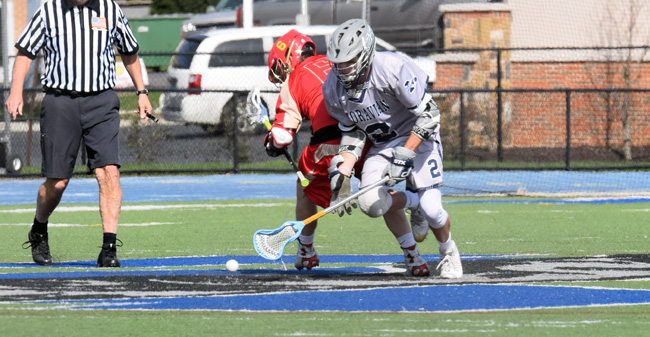 Men's Lacrosse Ends Regular Season in Loss at Drew