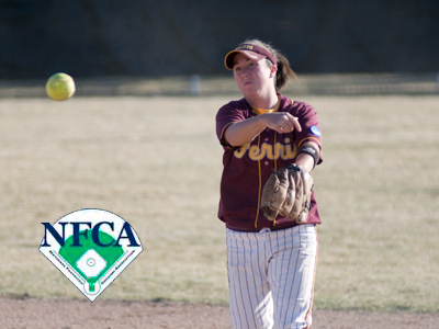 Senior Amanda Harrington and Ferris State receive votes in softball preseason national poll.  (Photo by Ed Hyde)