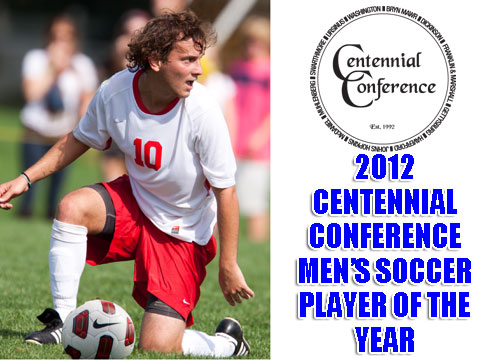 Javier Mena was named the Centennial Conference Men's Soccer Player of the Year as seven Red Devils earned All-Conference honors<BR>