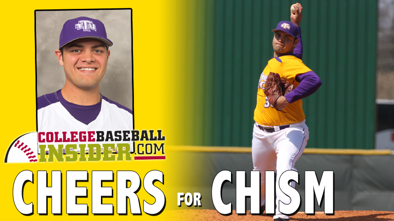 CollegeBaseballInsider.com names Chism Central Region Pitcher of the Week