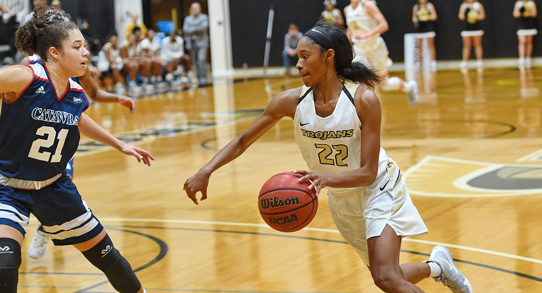 Balanced Attack Lifts 16th Ranked Trojans over Newberry; 82-76