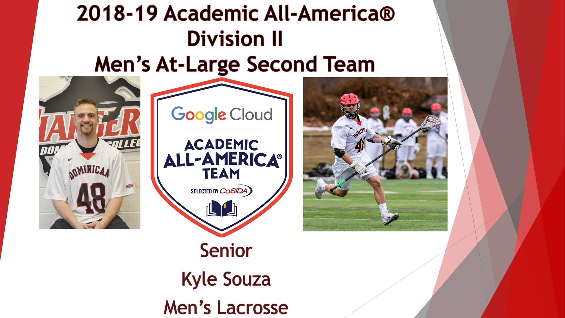 SOUZA EARNS SECOND CONSECUTIVE GOOGLE CLOUD ACADEMIC ALL-AMERICA® HONORS