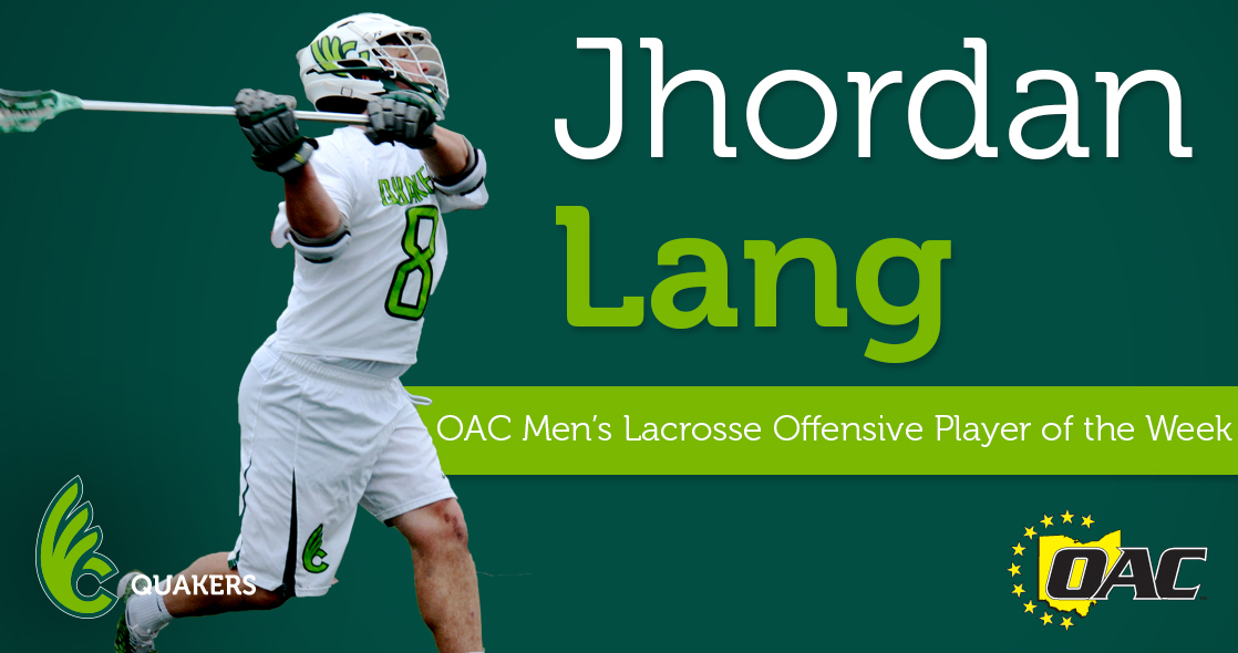 Lang Garners OAC Offensive Player of the Week Honors
