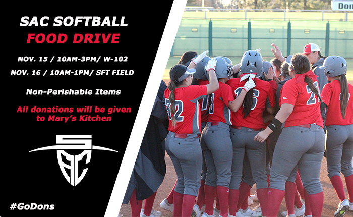 Santa Ana Softball to Host Thanksgiving Food Drive on Nov. 15-16