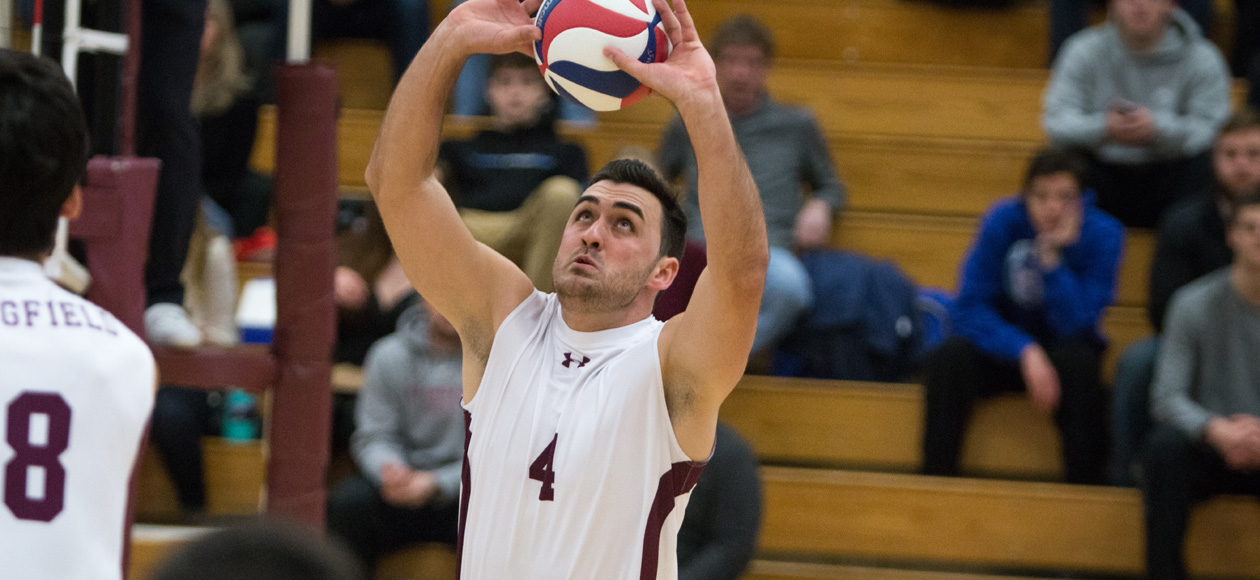 No. 1 Men's Volleyball Blanks Rivier In Straight Sets