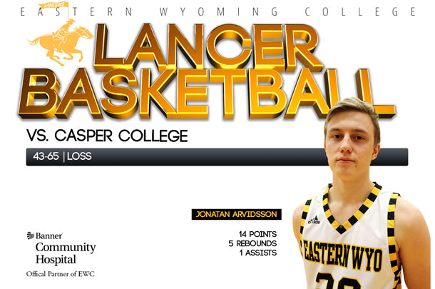 Eastern Wyoming College Lancer Basketball team vs. Casper College at Casper College