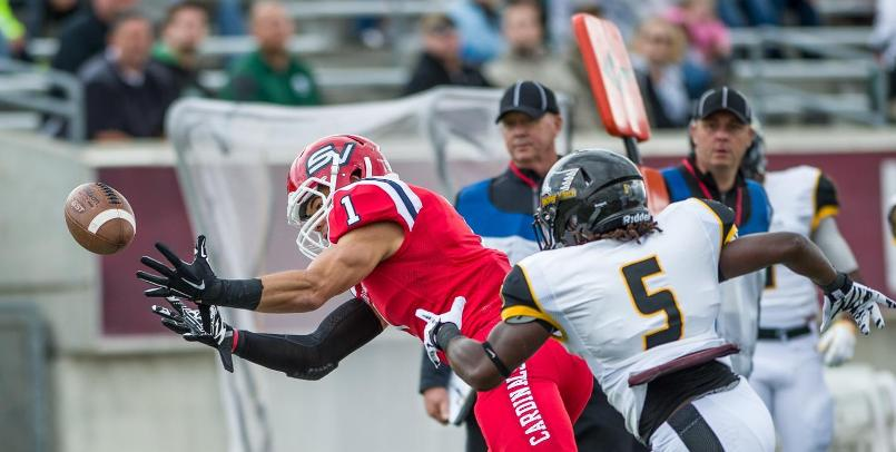 Bryan Fobbs had seven catches for 107 yards and a touchdown for the Cardinals at Northern Michigan...