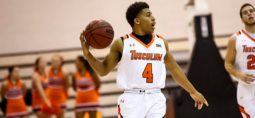 Kendall Patterson totaled 14 points, 7 assists and a career-high 9 rebounds in Tusculum's 99-83 SAC win over Coker