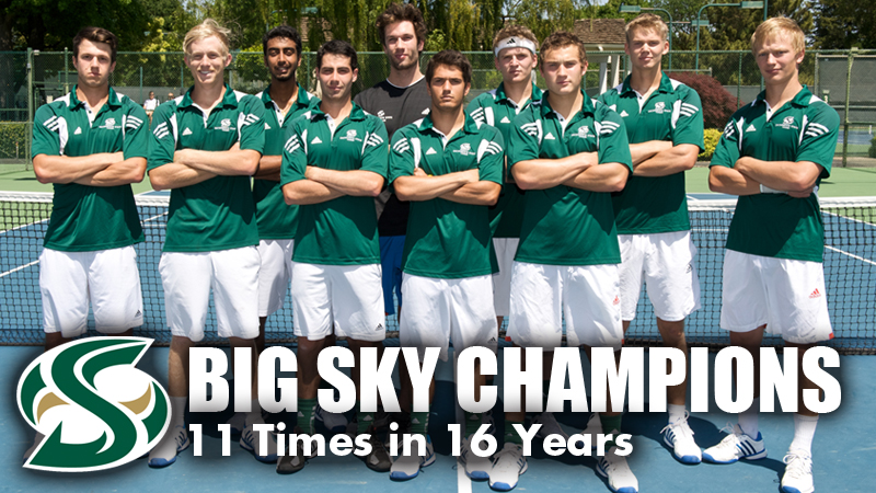 MEN'S TENNIS WINS FIFTH STRAIGHT BIG SKY TOURNAMENT TITLE WITH 4-1 WIN OVER MONTANA