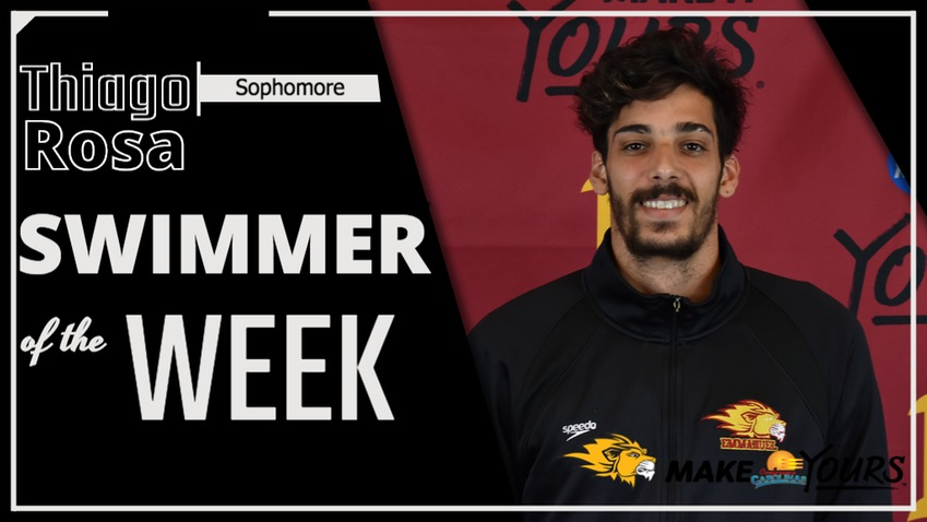 Rosa Named Conference Carolinas Men's Swimmer of the Week