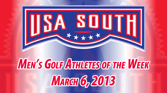 USA South Men's Golf Athletes of the Week - March 6, 2013