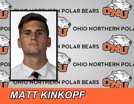 Senior Matt Kinkopf leads No. 4 Men's Soccer in 6-0 shutout over Muskingum
